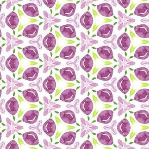 19-11s Purple Watercolor Floral repeat