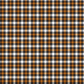 Halloween Tartan Plaid|Orange White Black|Renee Davis
