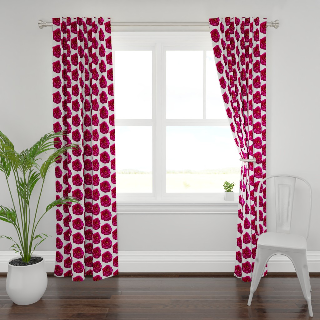 Plymouth Curtain Panel featuring Peony Flower by creative_spaces