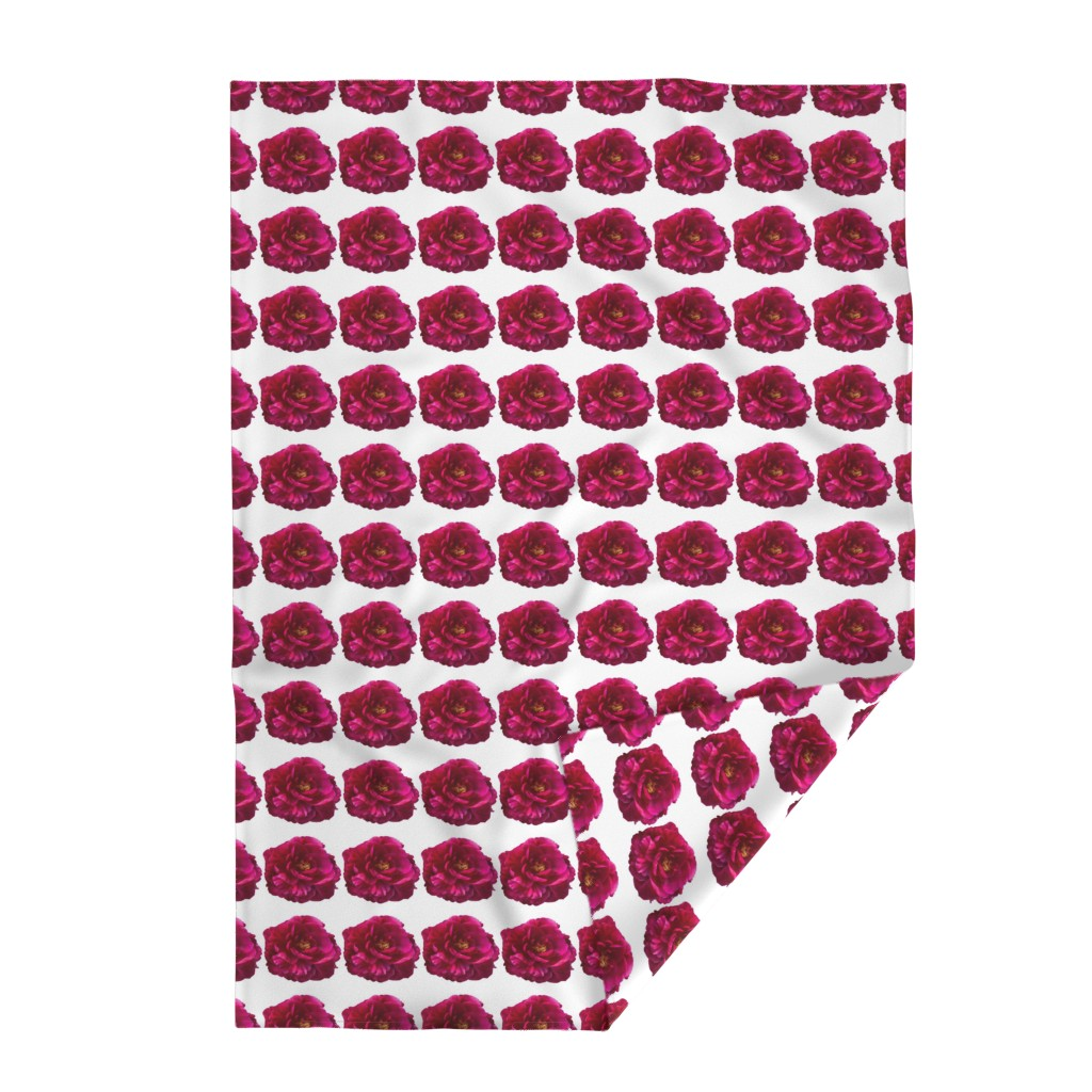 Lakenvelder Throw Blanket featuring Deep Pink Peony by creative_spaces