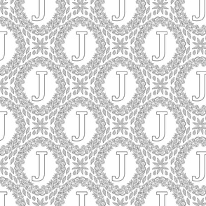 letter-J-black-white-wreath-SF-PATTERN-0819