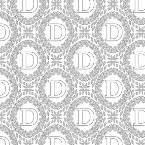letter-D-black-white-wreath-SF-PATTERN-0819