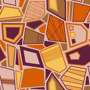 Hip Abstract Shapes (Earthy)