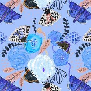 Watercolor moths