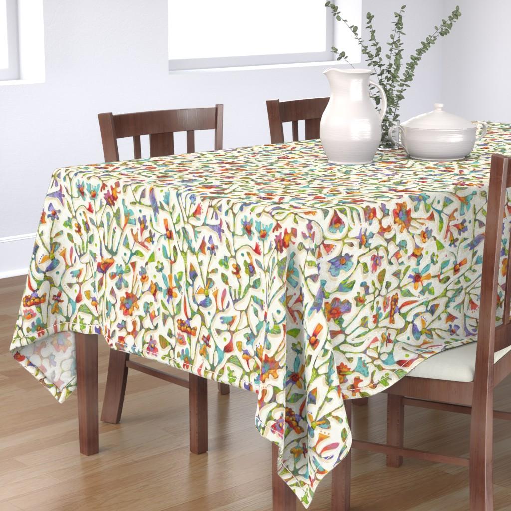 Bantam Rectangular Tablecloth featuring Bird Song  by janetnelson