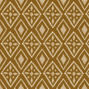 Couched Diamond - Medium - Buff, Copper