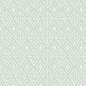 Couched Diamond - Stonewashed - Small - Cream, Light Aqua