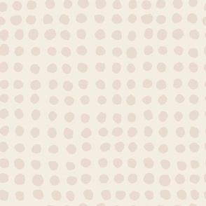 Hand Painted Polka Dot | Neutral