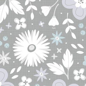 Spring Blossoms (Gray)