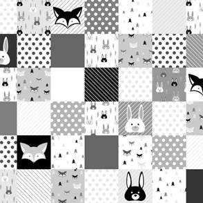 Foxes and Rabbits Cheater Quilt