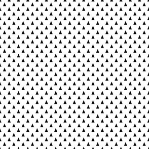 Black and White Triangle Dot - Small