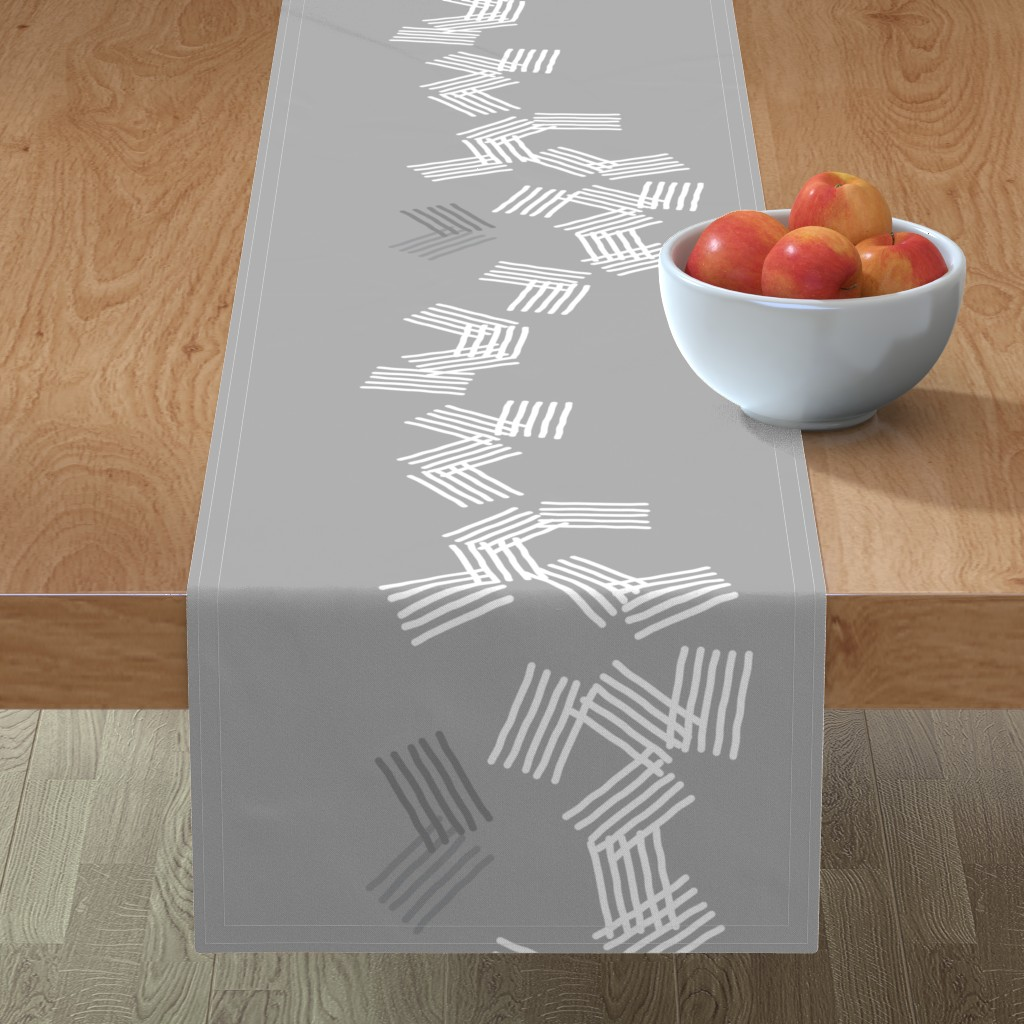 Minorca Table Runner featuring Falling-Large scale-58 by twigged