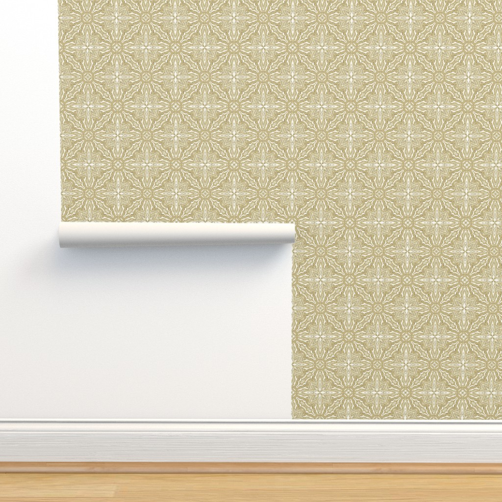 Isobar Durable Wallpaper featuring Stitched Neutral Nature, Medium by palifino