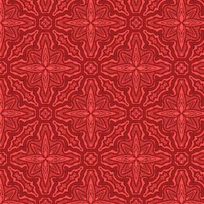 Stitched Star Flower, Red