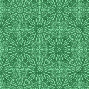 Stitched Star Flower, Green