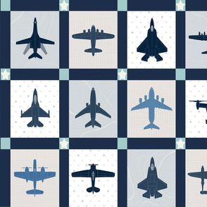 Airplane Cheater Quilt Endless-Repeat