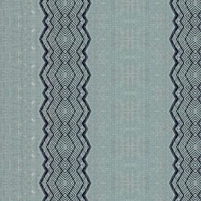 Bohemian Denim Rattan Stripes-washed
