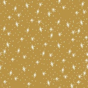 Snow sparkle in gold 6x6