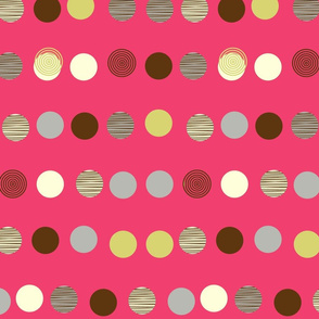 linear texture circles dark pink
