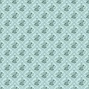 Vintage Flora lAqua Blue Small