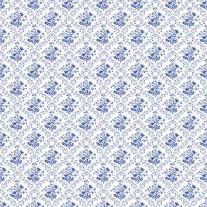Vintage Floral Blue Small