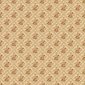 Vintage Floral Brown Small