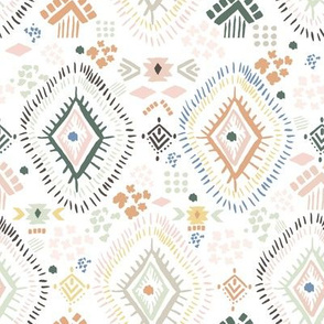 "8"" Modern Aztec Color Print"