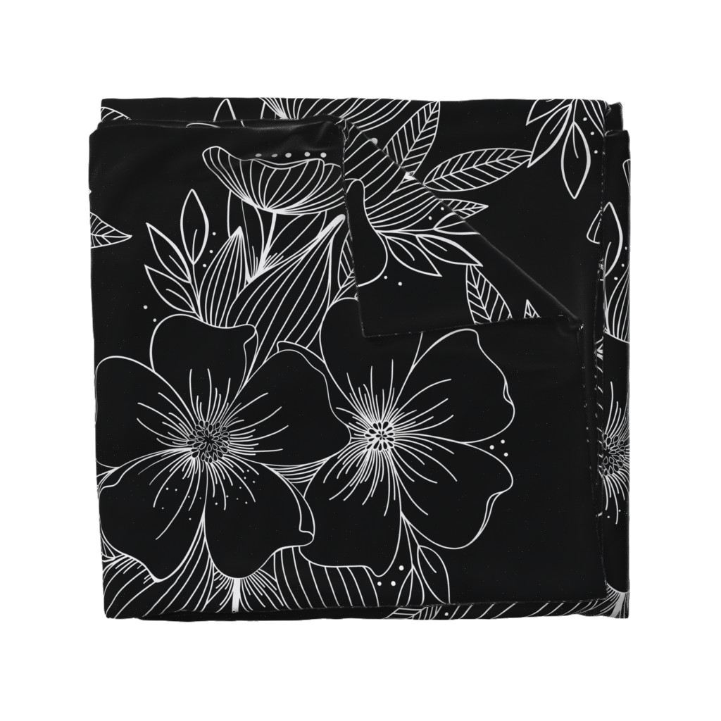 Wyandotte Duvet Cover featuring Large Floral Spray by kathryncole
