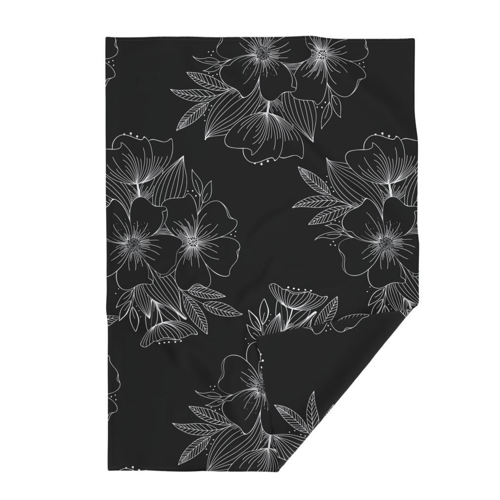 Lakenvelder Throw Blanket featuring Large Floral Spray by kathryncole