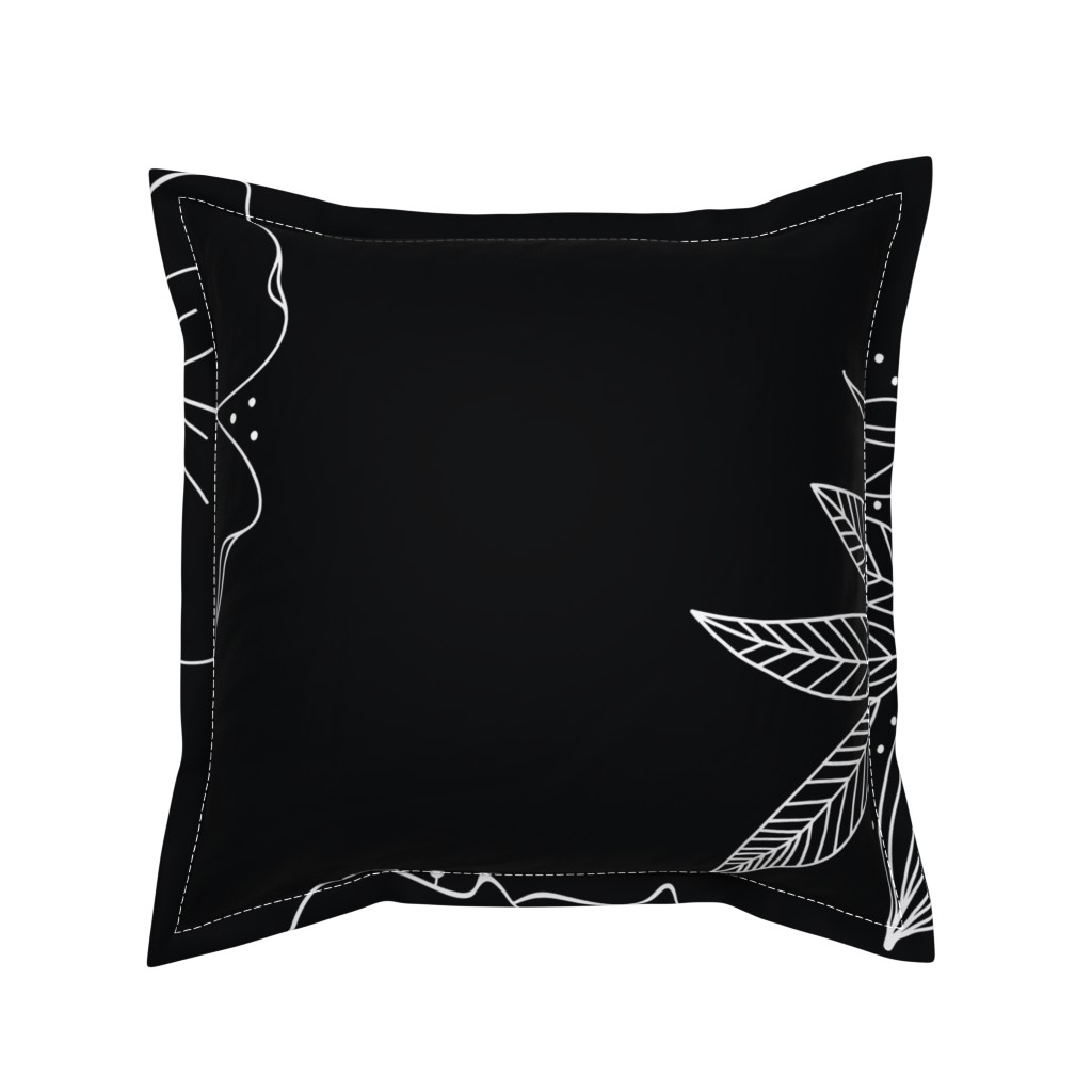 Serama Throw Pillow featuring Large Floral Spray by kathryncole