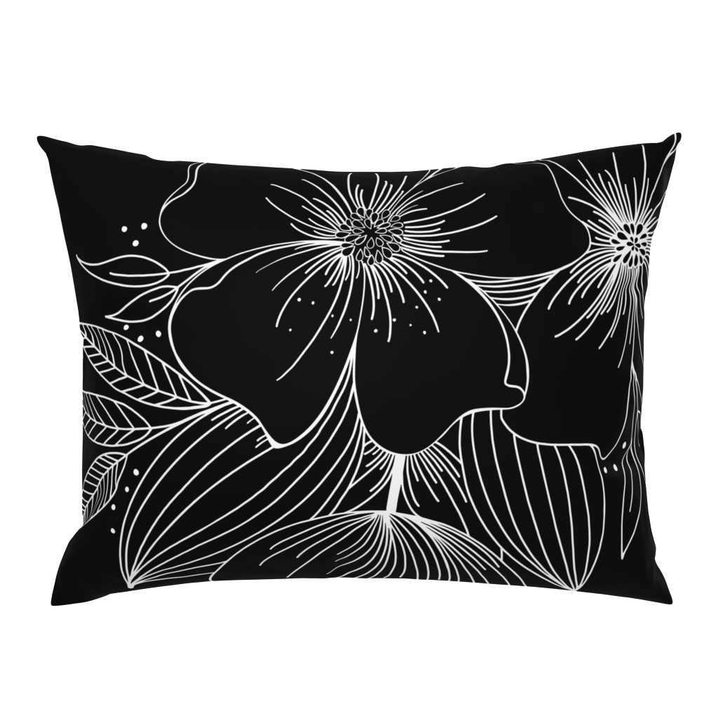 Campine Pillow Sham featuring Large Floral Spray by kathryncole