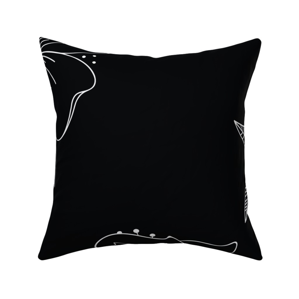 Catalan Throw Pillow featuring Large Floral Spray by kathryncole