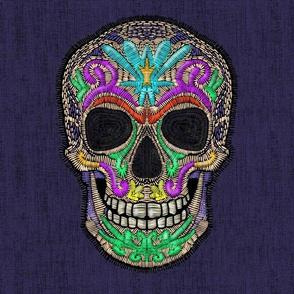 Embroidered skull