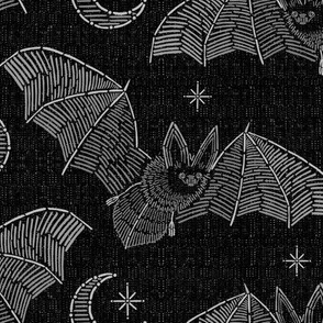 Bat Stitch Crazy - Gray
