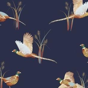 Pheasants in Wheat