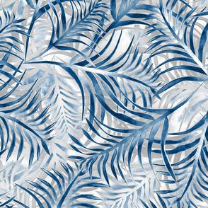 parlour palm in blue