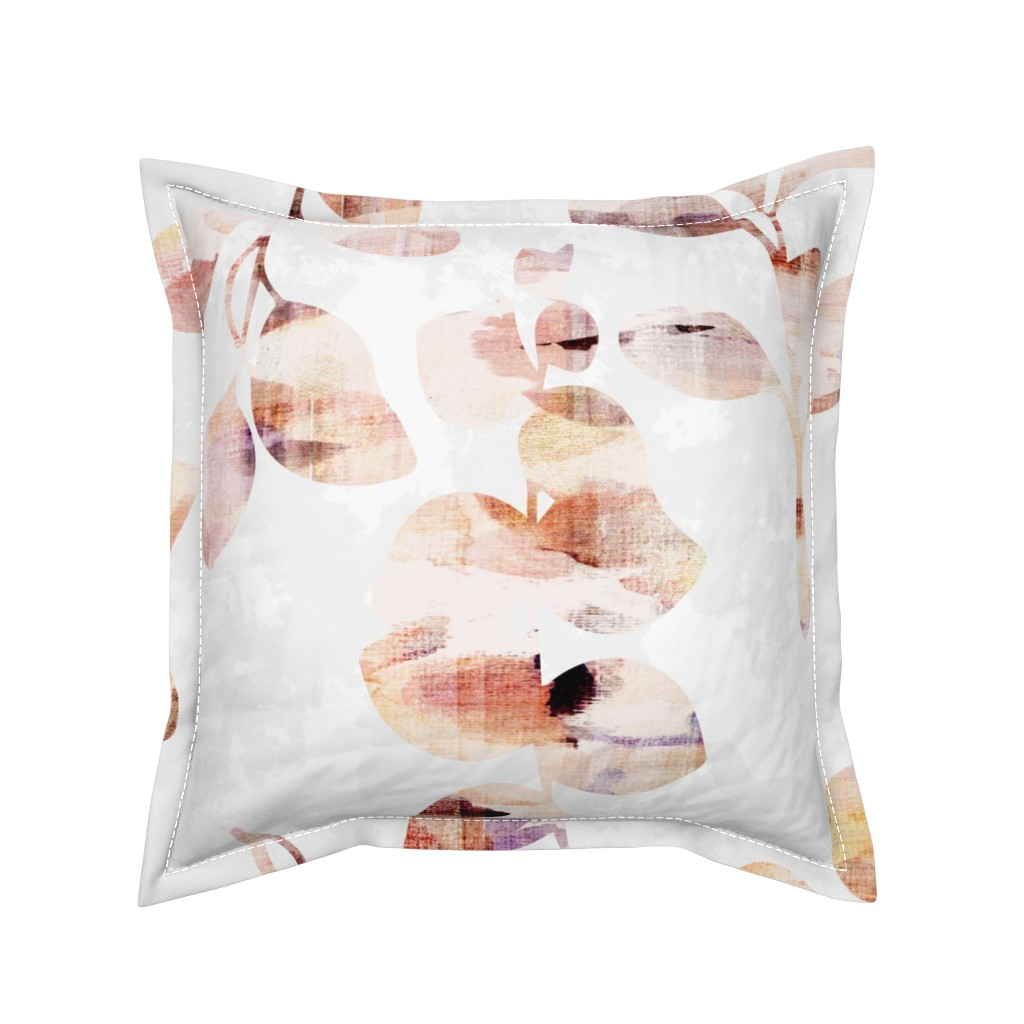 Serama Throw Pillow featuring Painted Nature by jenflorentine