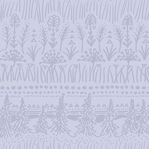 Woodland Stripe (Cool Purple)