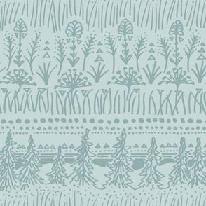 Woodland Stripe (Frost Green)