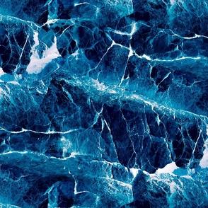 LARGE ROCKS AND SEA TURQUOISE INDIGO BLUE PSMGE
