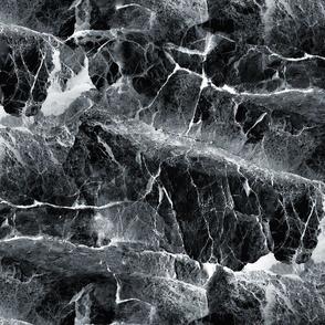 LARGE ROCKS AND SEA SLATE GRAY GREY ORIGINAL  PSMGE