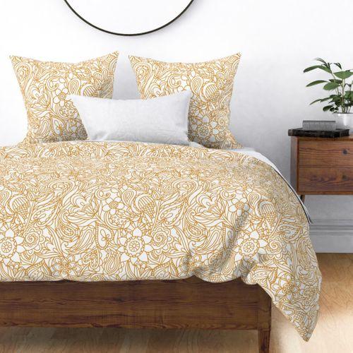 Neutral bedding paisley pattern