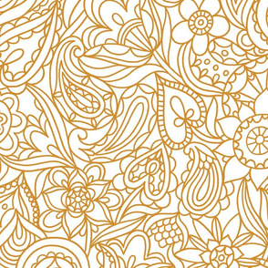 Neutral bedding paisley pattern