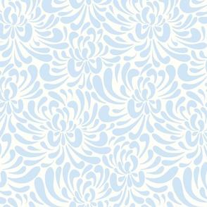 abstract chrysanthemum - light blue