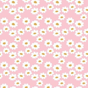 Delicate flower white blossom minimal abstract retro daffodil daisy modern pink yellow girls