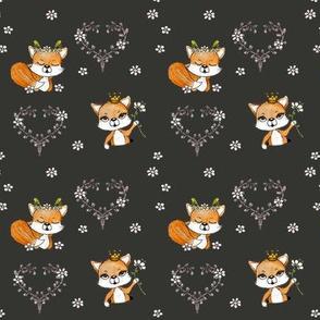 1104 Happy Fox Pattern 12 black