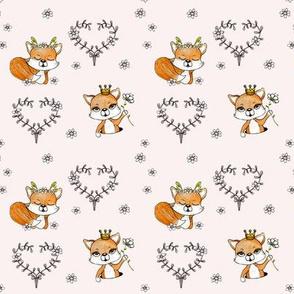 1105 Happy Fox Pattern 13 blush