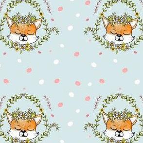 1106 Happy Fox Pattern 14 blue