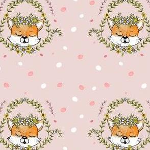 1107 B Happy Fox Pattern 14 dusty pink