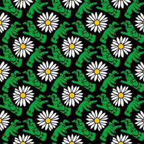 Frankenstein's Monster and Floating  Daisies